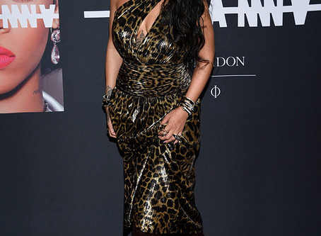 Rihanna Steps Out In Leopard Print Dress At Launch Of Visual Autobiography