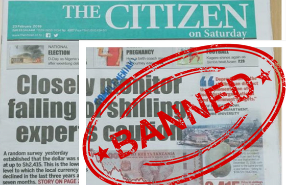 Tanzania Bans Popular Newspaper Over Currency Exchange Rate Data