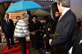 Theresa May Lands In Cape Town At Start Of Trade Mission To Africa