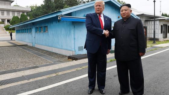 Trump Enters North Korea