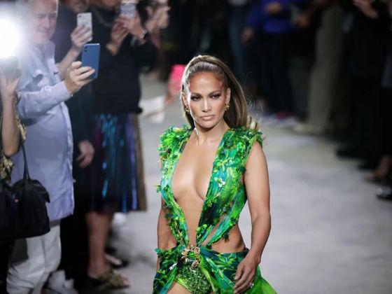 JLo Stuns Milan Fashion Week Spring Summer 2020 In Sexy Versace Dress