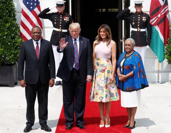 Uhuru Kenyatta Meets Trump