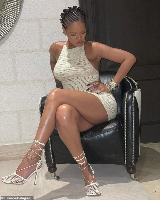 Rihanna In Sexy Chrochet Mini Dress To Show Off Amazingly Glowing Legs
