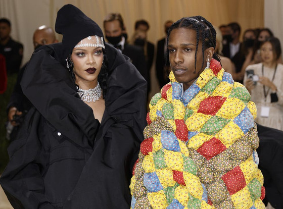 Rihanna And A$AP Rocky Make Red Carpet Debut As Couple At Met Gala 2021