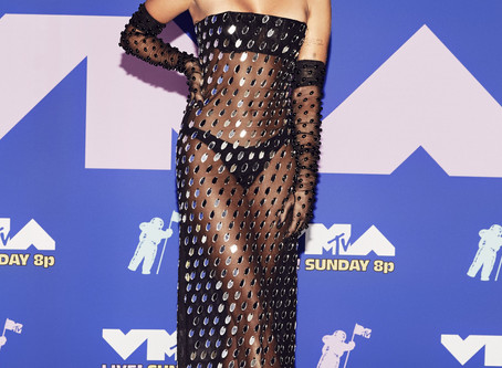 Miley Cyrus In Awesome Sheer Tube Dress At MTV Video Music Awards 2020
