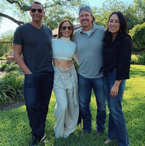 Jennifer Lopez Pays Joanna Gaines Visit In Texas