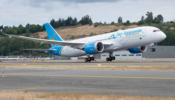 Air Tanzania To Begin Commercial Use Of Its Boeing 787-8 One Year After Delivery