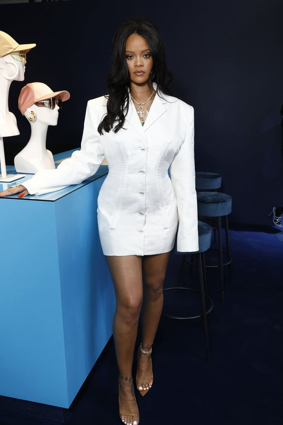 Rihanna In Fenty Fashion Mini Dress