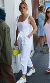 JLo Goes Shopping In LA With Ben Affleck In All White Outfit