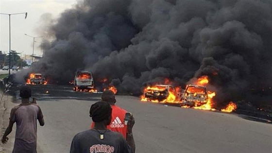 9 Killed In Lagos After Oil Tanker Exploded