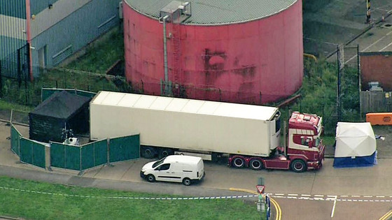 39 Dead People Found In Articulated Haulage Truck Near London