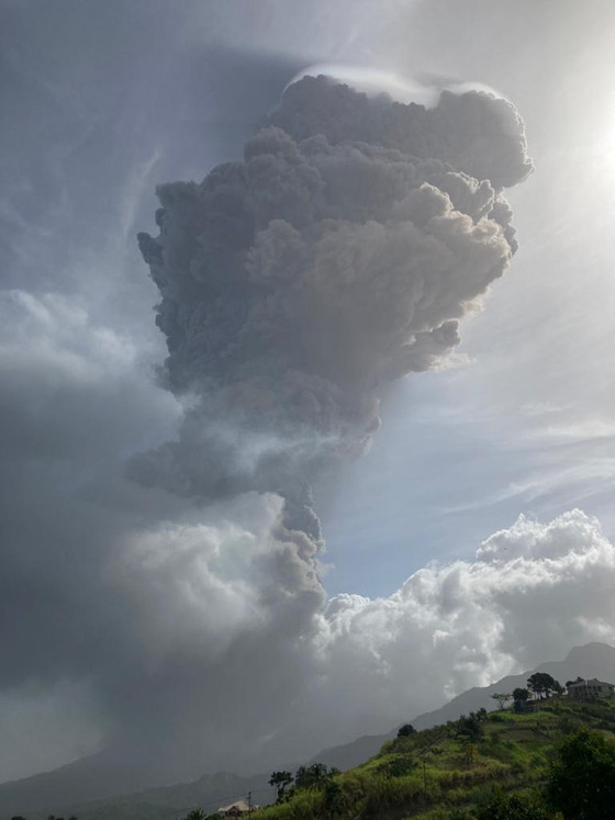 Mass Evacuation In St. Vincent After Powerful Volcano Eruption