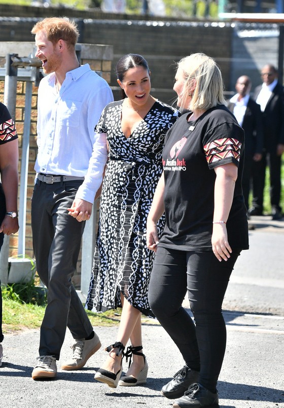 Duchess Meghan Markle, Prince Harry, And Archie In South Africa