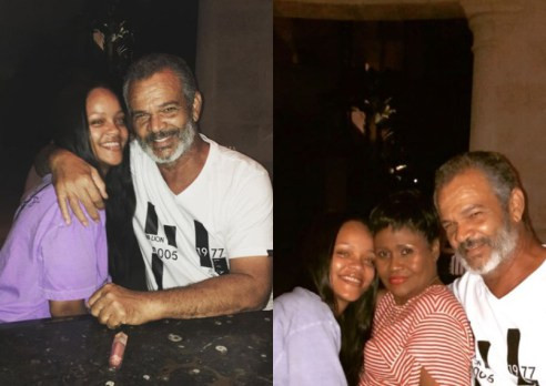 Rihanna Spends Quality Time With Parents In Barbados