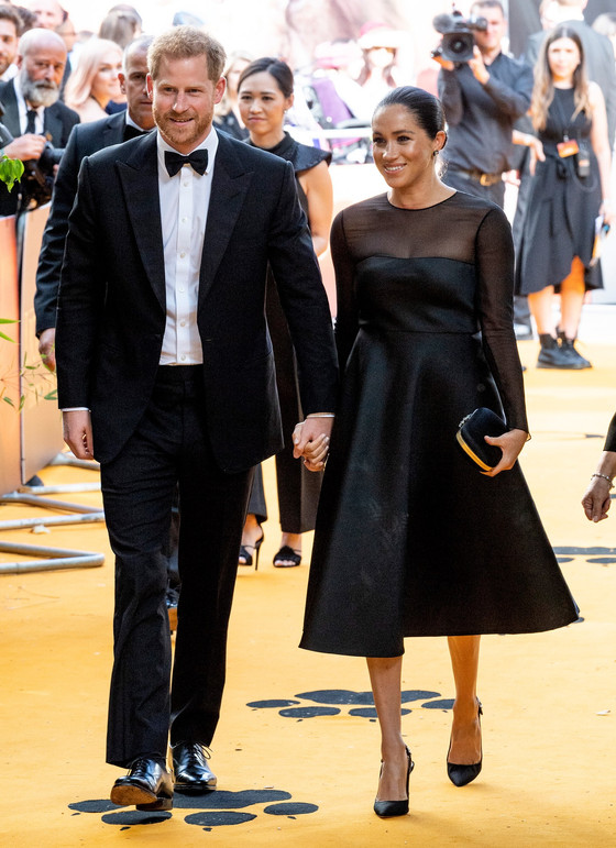 Meghan Markle And Prince Harry Attend The Lion King Premiere