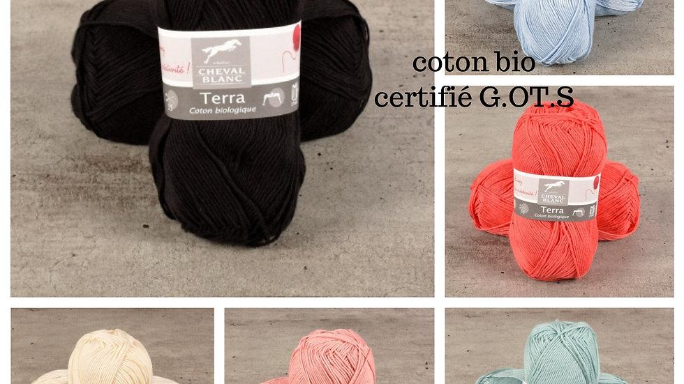Coton Terra (coton bio certifié G.O.T.S