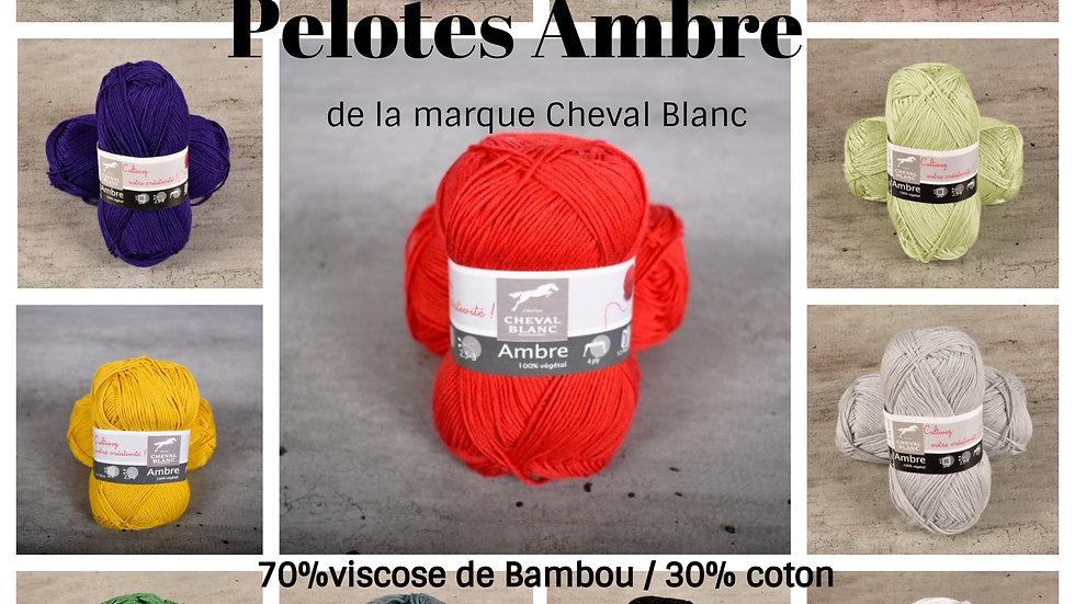 Pelotes Ambre (Bambou et coton)