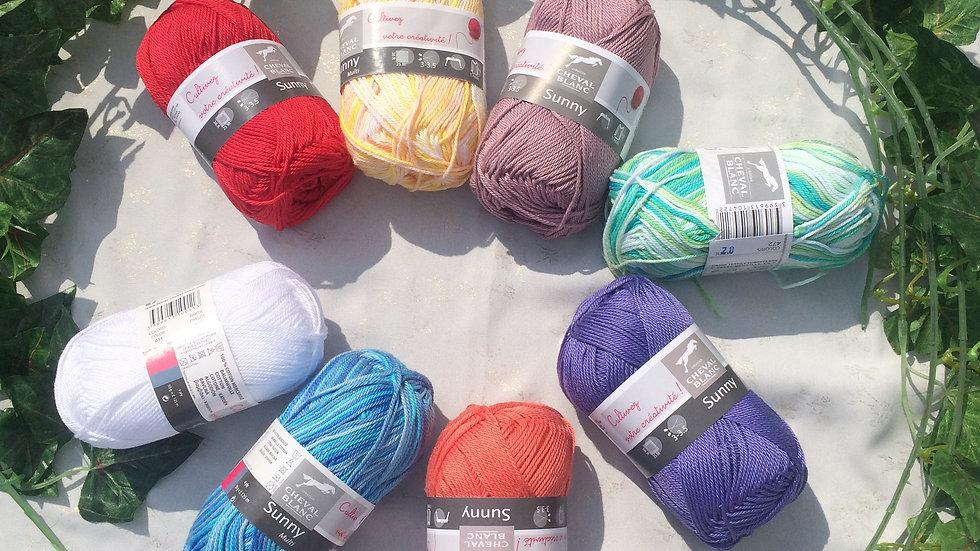 Pelote Sunny et sunny-multi (100%coton)