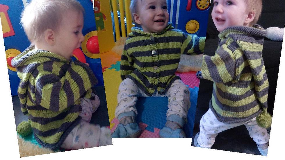 Patron Veste bébé Owen collection Lutin
