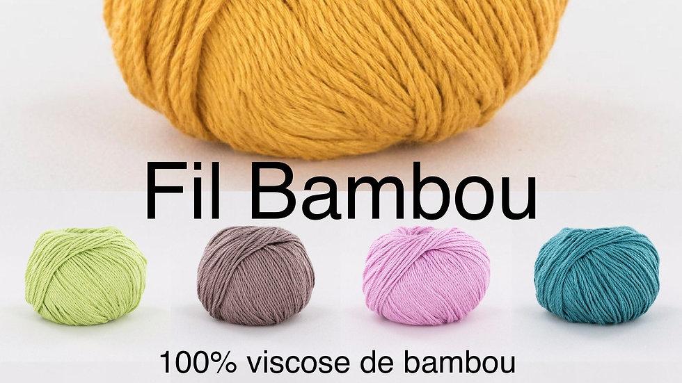 Fil Bambou (100% viscose de bambou)