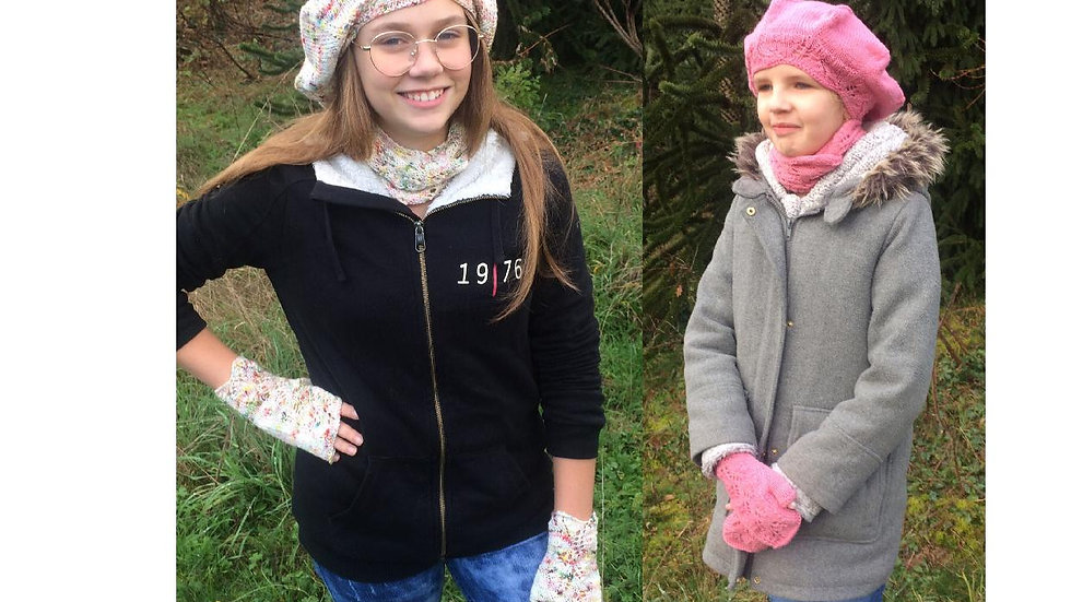 """Patron tricot ensemble hiver """"Aléïde"""""""