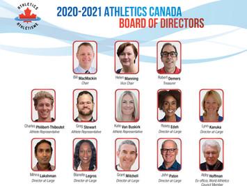 Athlétisme Canada dévoile la composition de son conseil d'administration 2020-2021