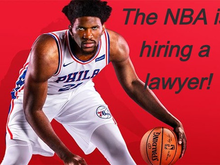 The NBA is hiring a new lawyer!