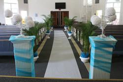 Church ceremony decor - New Life Baptist Church.jpg