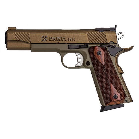 BRIXIA 9MM SEMI-AUTO PISTOL CERAMIC GOLD/GREEN