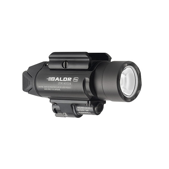 Olight BALDR Pro 1350 lumen rail mount light with green laser - Black
