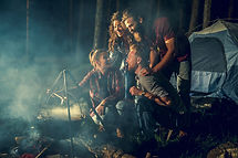 Campers in Woods