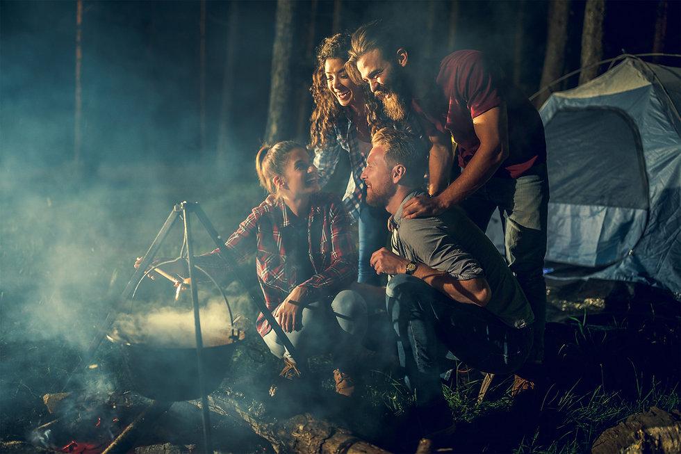 Campistas en Woods