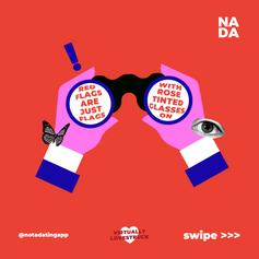 Visuals for NADA's event, Virtually Lovestruck