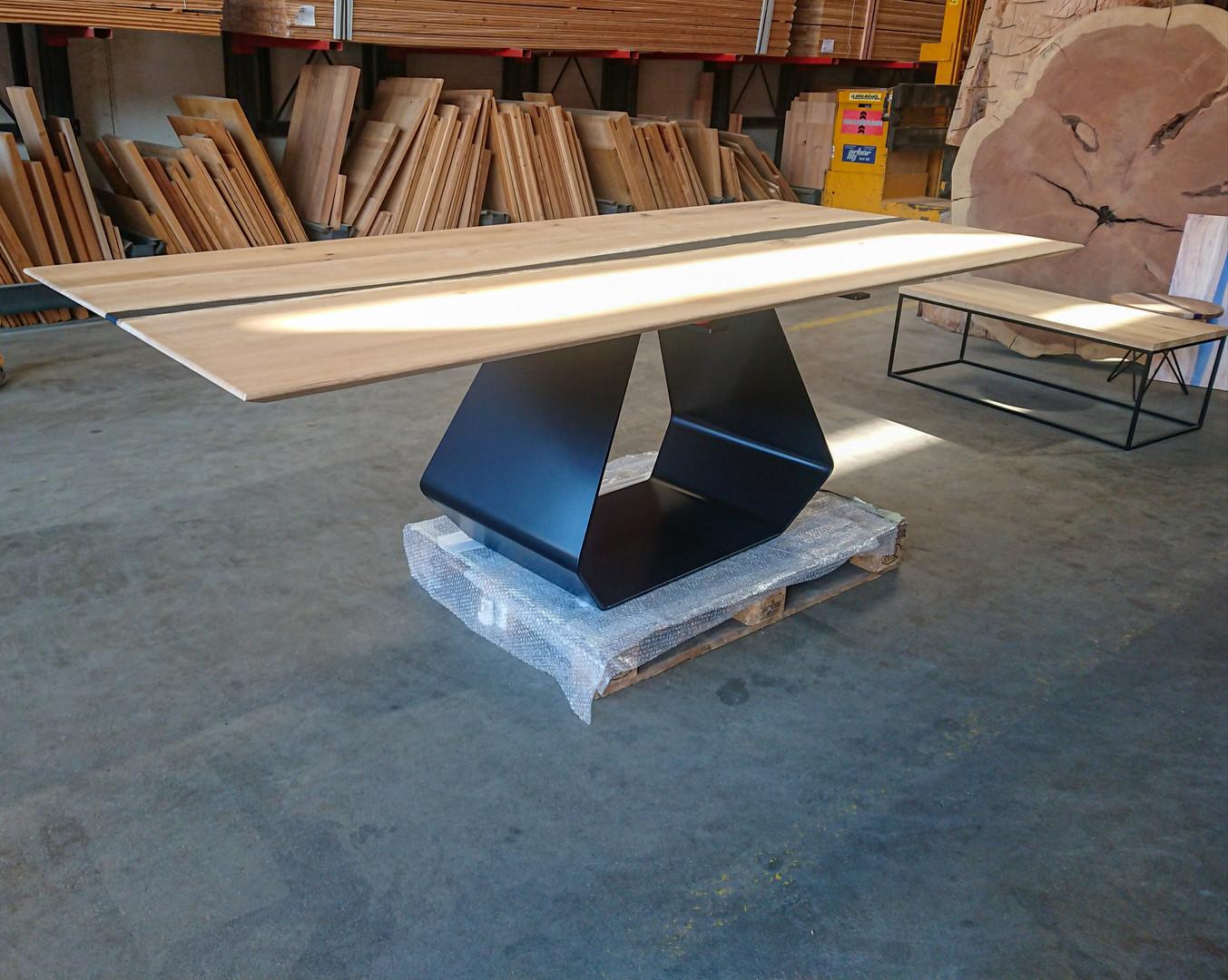 Table réalisé en chêne massif