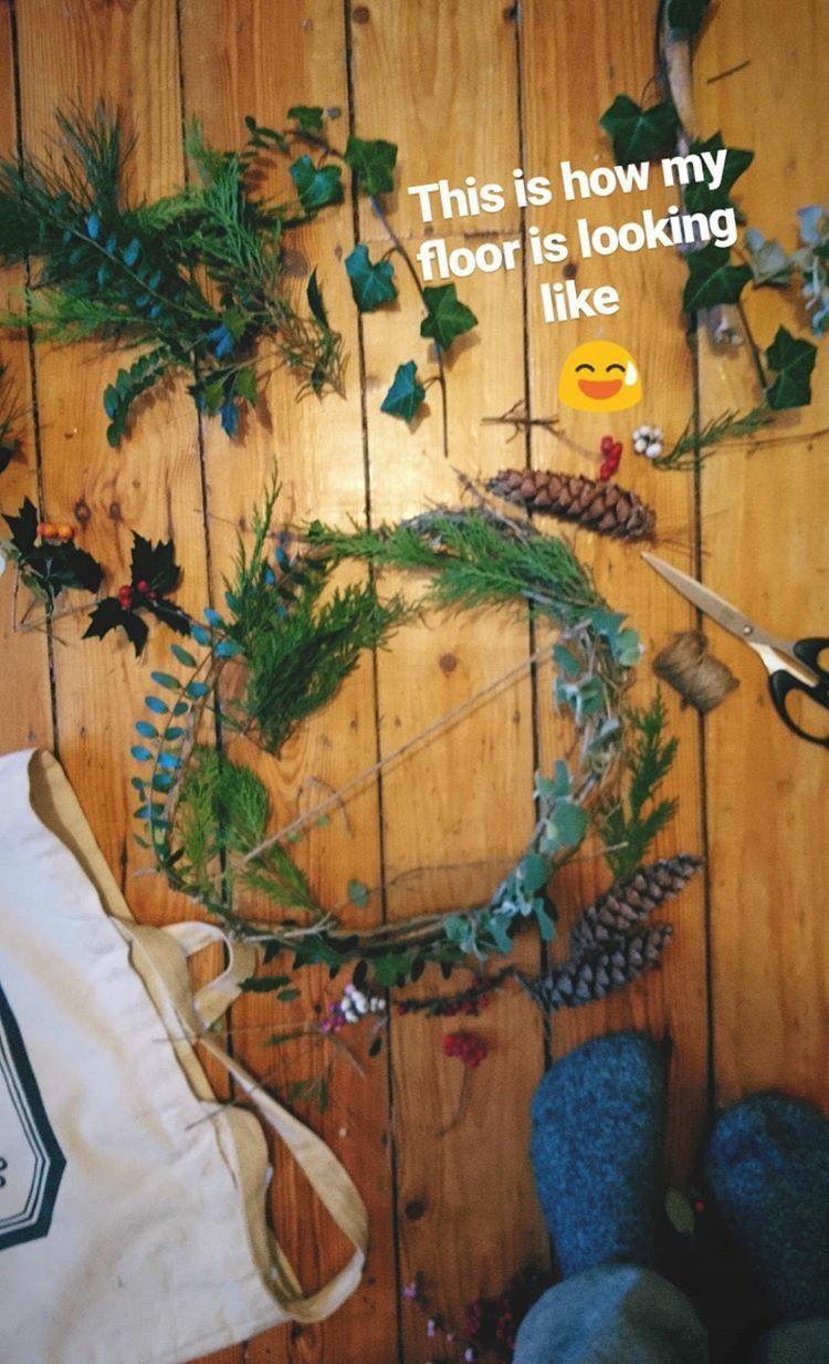 DIY wreath, nature arrangement, New Years Eve, Miuxua