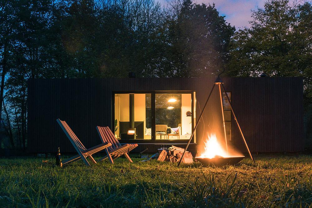 slow cabins overnachten in de natuur