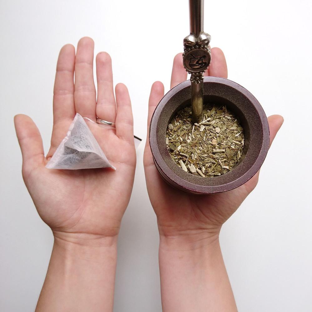 tea bag vs. mate yerba, Miuxua