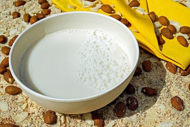 vegan drink nuts milk almond