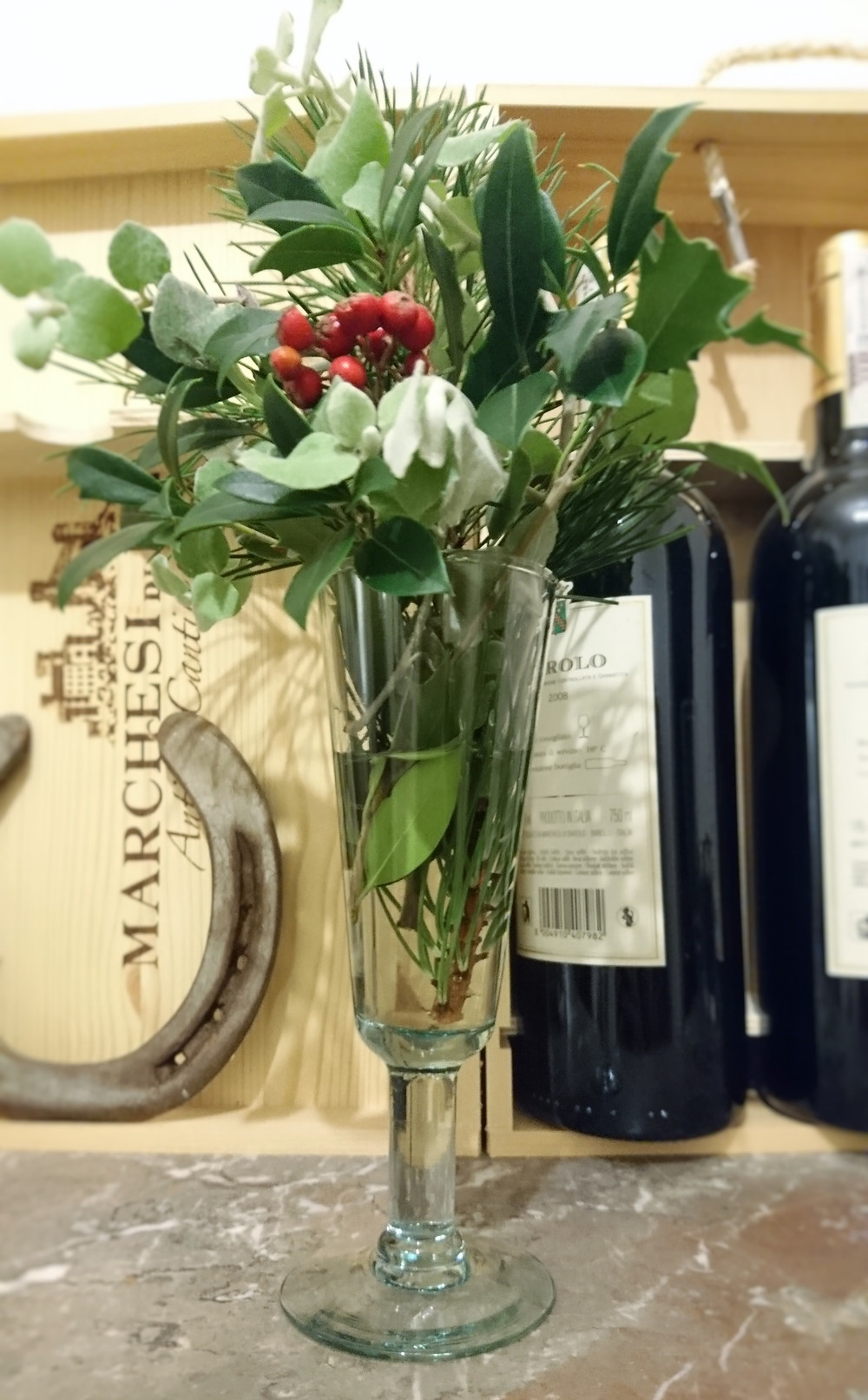 DIY New Years Eve, table piece, Miuxua, plants, nature