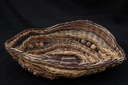 Open sculptural basket