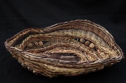 Open sculptural basket