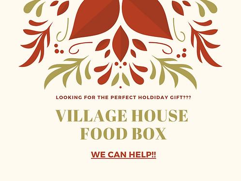 Boîte de nourriture de maison de village