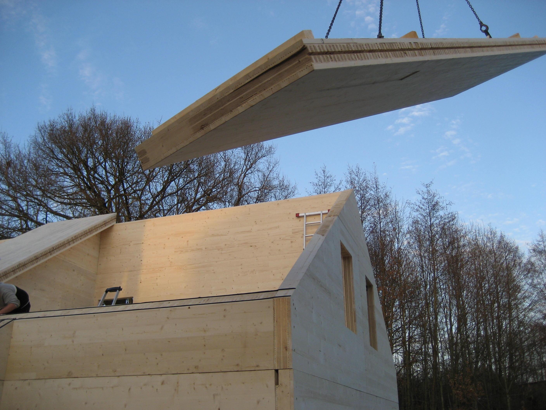 Montag Dachplatte aus Vollholzwand