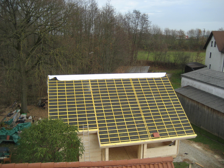 Holzhaus Dacheindeckung