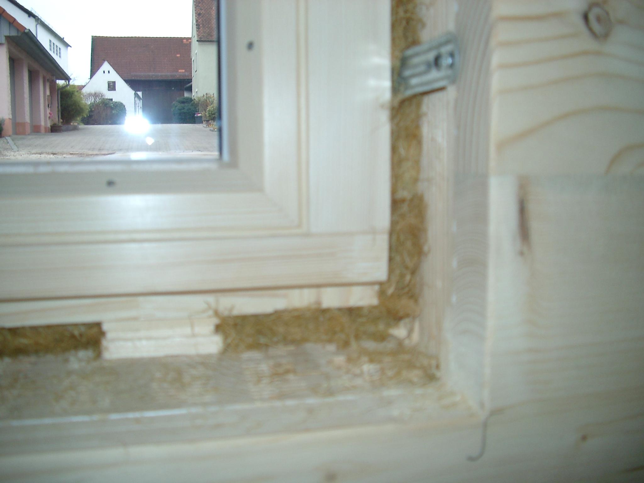 Holz-Alu Fenster mit Hanfdämmung