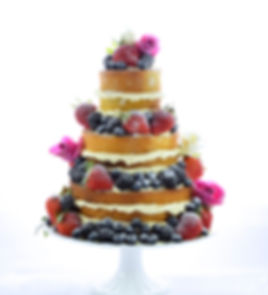 Naked Wedding Cake by The White Rose Cake Company Sussex