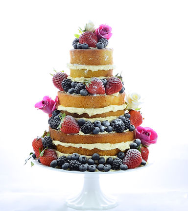 Naked Wedding Cake Sussex and Surrey