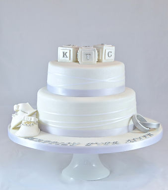 White Wedding Christening Cake Sussex