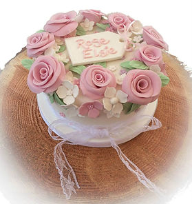 Rose Christening Cake, Sussex Cake maker