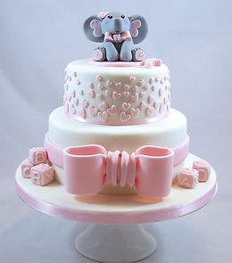 Elephant Baby Shower Cake, Sussex Cakes
